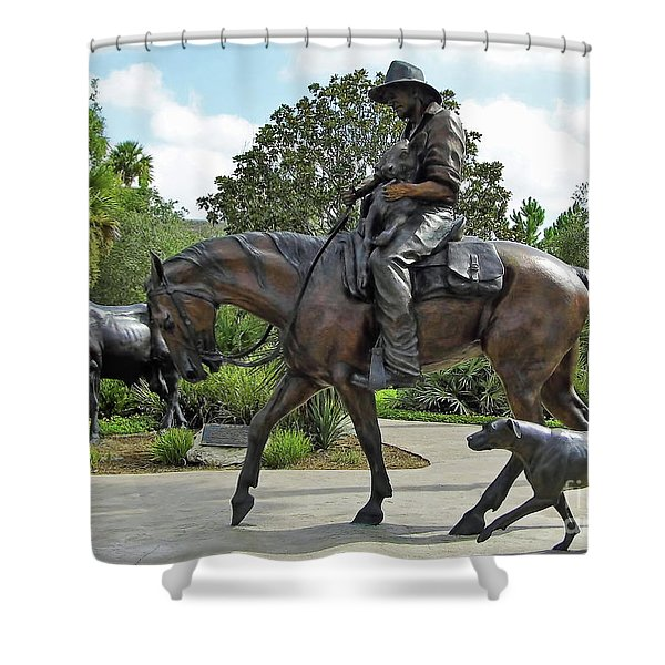 Cracker Cowboy And His Dog Shower Curtain