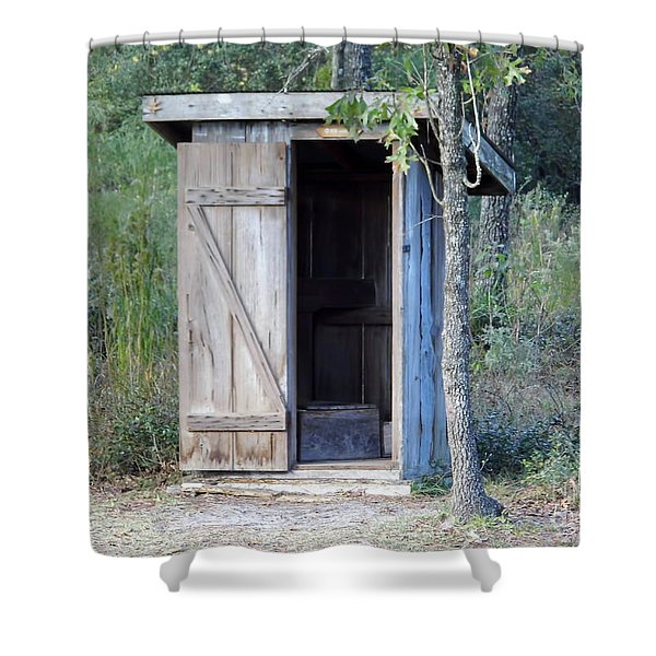 Cracker Out House Shower Curtain