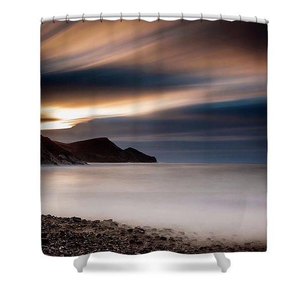 Crackington Haven Sunset Shower Curtain