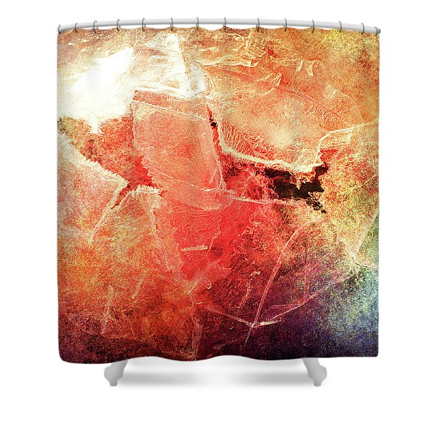 Cracks Of Colors Shower Curtain