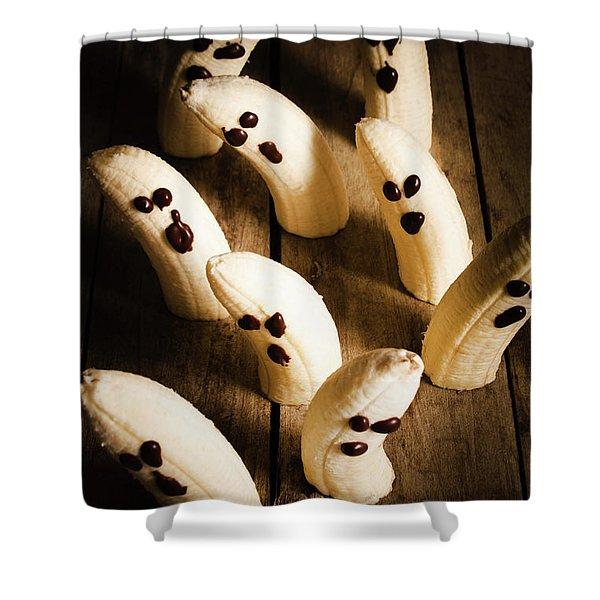 Crafty Ghost Bananas Shower Curtain