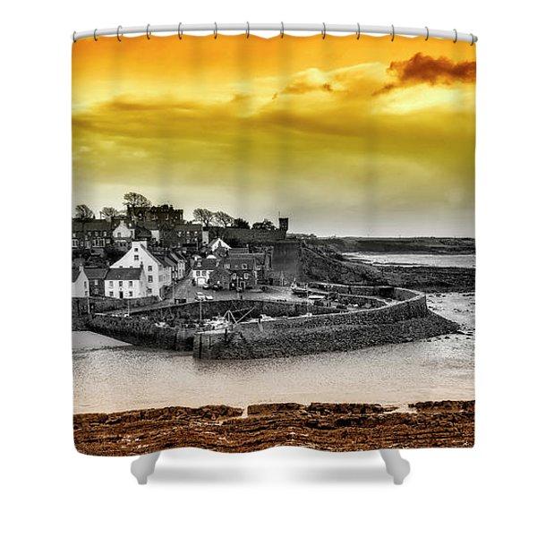 Crail Harbour Shower Curtain