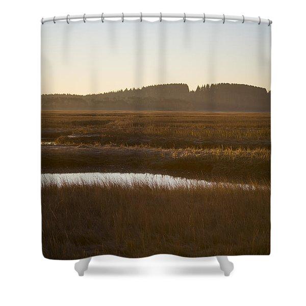 Crane Reservation Sunrise Crane Beach Ipswich Ma Shower Curtain