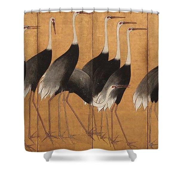 Cranes Shower Curtain