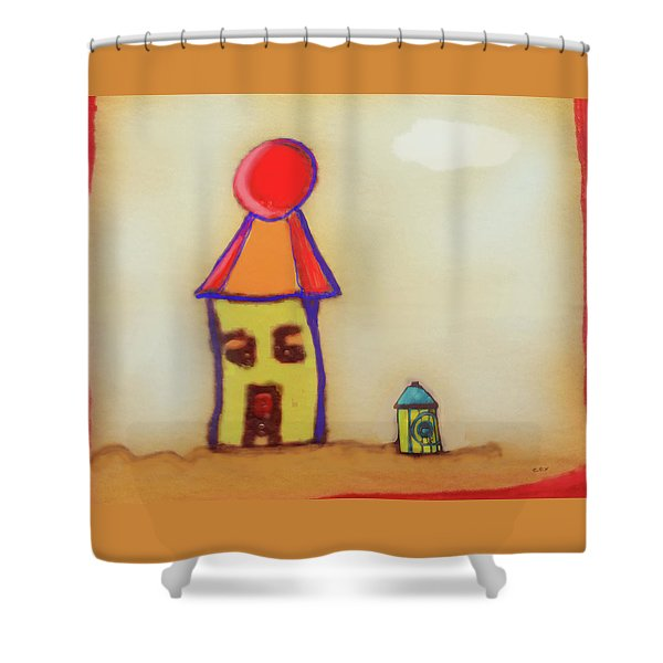 Cranky Clown Cabana And Fire Hydrant Shower Curtain
