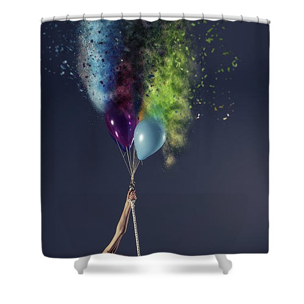 Crash Bang Walllop Shower Curtain