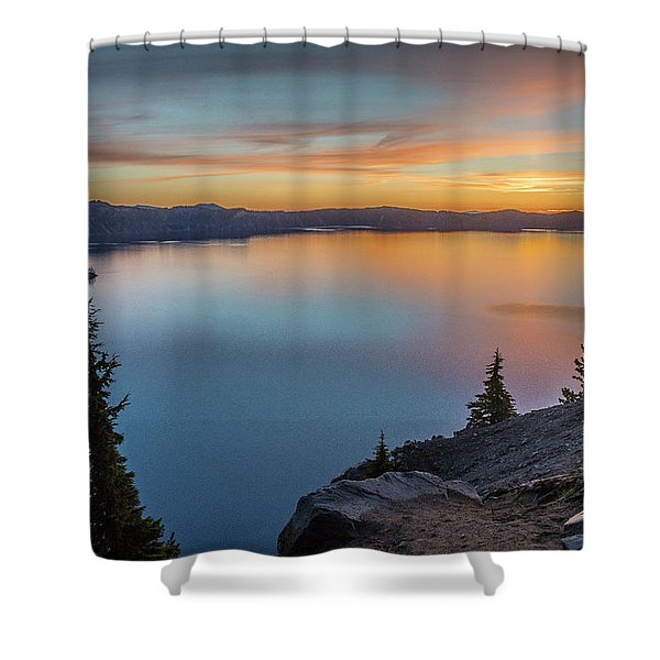 Crater Lake Morning No. 1 Shower Curtain