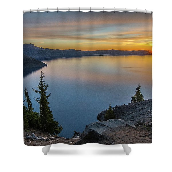 Crater Lake Morning No. 2 Shower Curtain