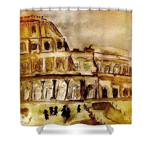 Crazy Colosseum Shower Curtain