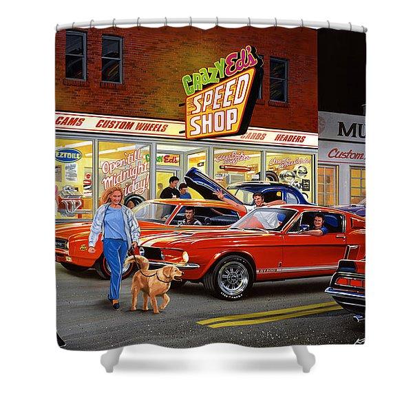 Crazy Eds Shower Curtain