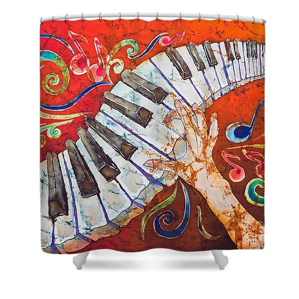 Crazy Fingers - Piano Keyboard  Shower Curtain