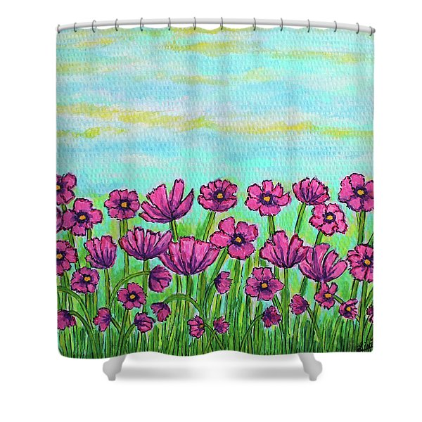 Crazy For Cosmos Shower Curtain