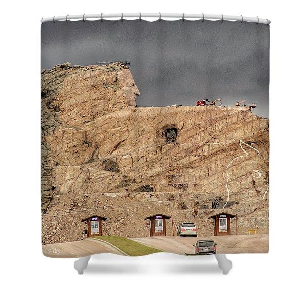 ...entrance Crazy Horse Memorial South Dakota.... Shower Curtain