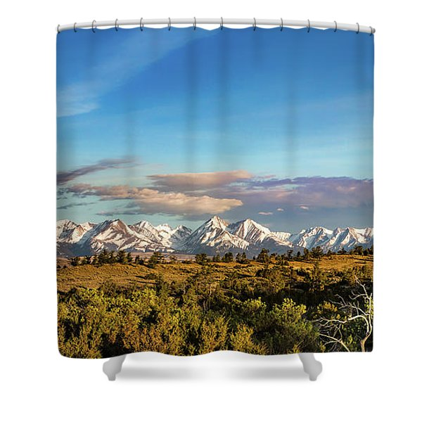Crazy Mountains Shower Curtain
