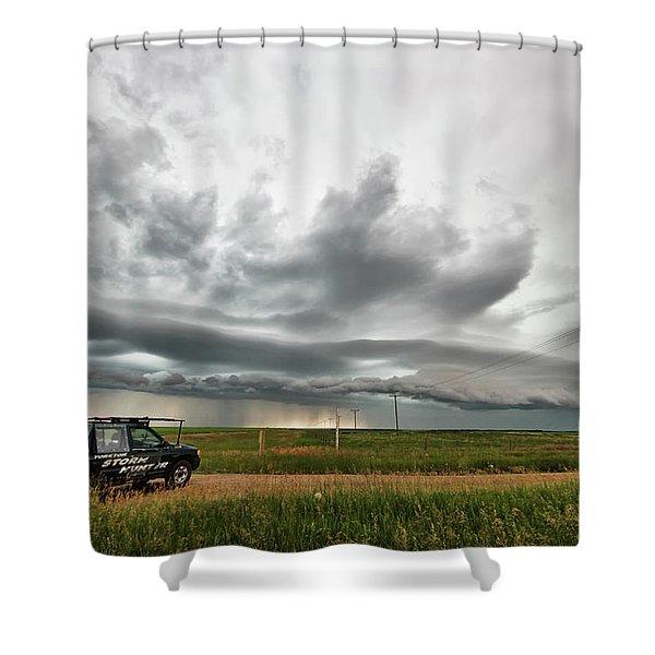 Crazy Shelf Cloud Near Ponteix Sk. Shower Curtain