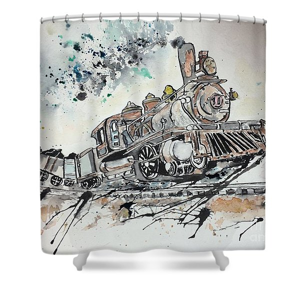 Crazy Train Shower Curtain