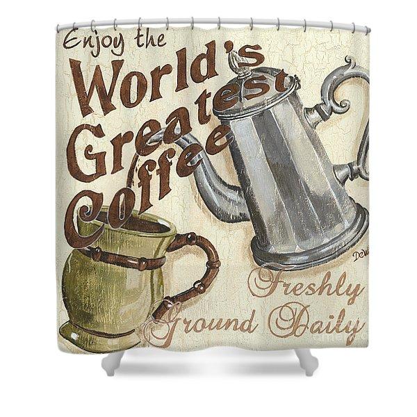 Cream Coffee 1 Shower Curtain