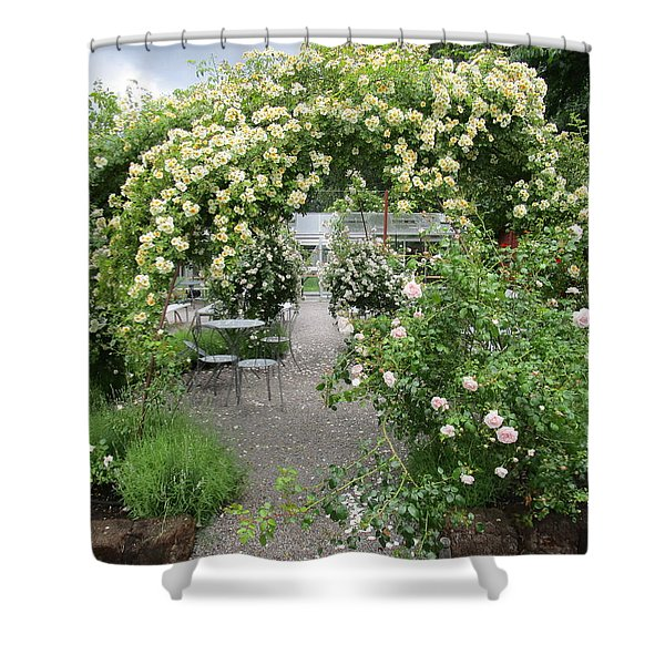 Cream-colored Roses With Your Coffee Shower Curtain