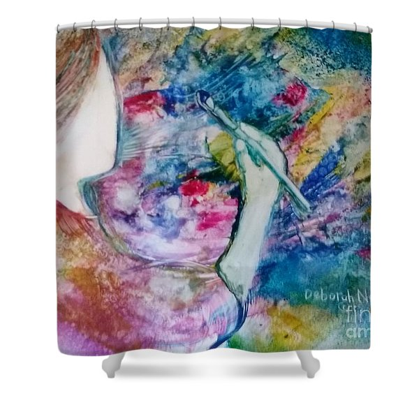 Shower Curtain featuring the painting Created To Create by Deborah Nell