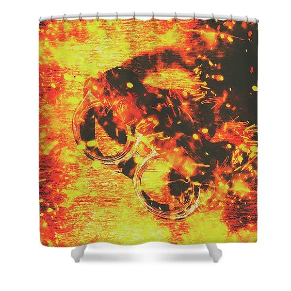 Creative Industrial Flames Shower Curtain