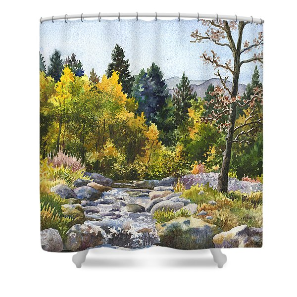 Creek At Caribou Shower Curtain