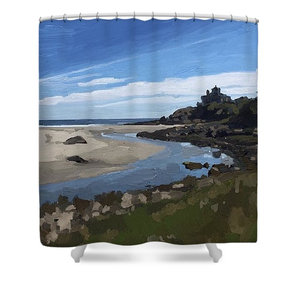 Creek At Good Harbor Beach, Gloucester, Ma., Sept. 23, 2015 Shower Curtain