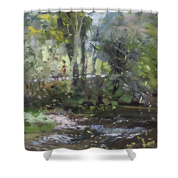 Creek At Three Sisters Islands Shower Curtain