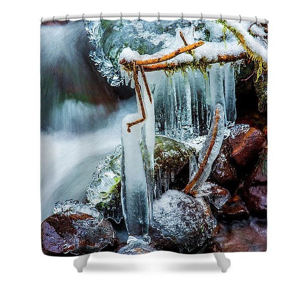 Creekside Icicles Shower Curtain