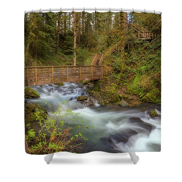 Creekside Walk Shower Curtain