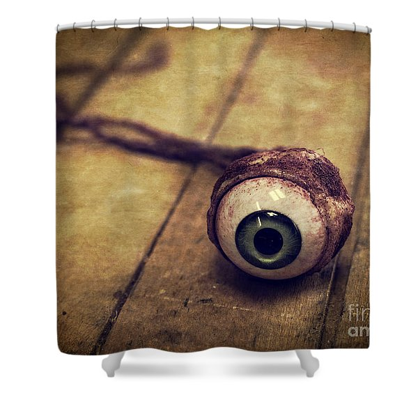Creepy Eyeball Shower Curtain