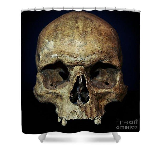 Creepy Skull Shower Curtain