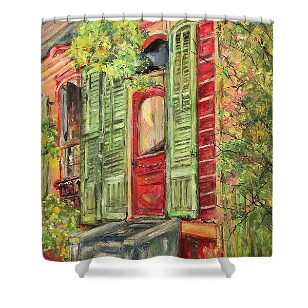 Creole Painted Lady In The Marigny Shower Curtain