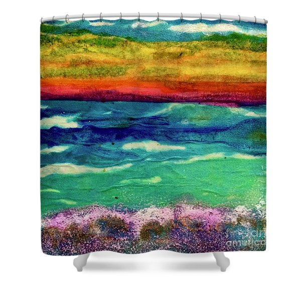 Crepe Paper Sunset Shower Curtain