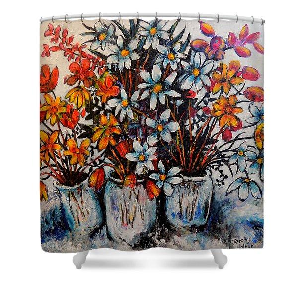 Crescendo Of Flowers Shower Curtain