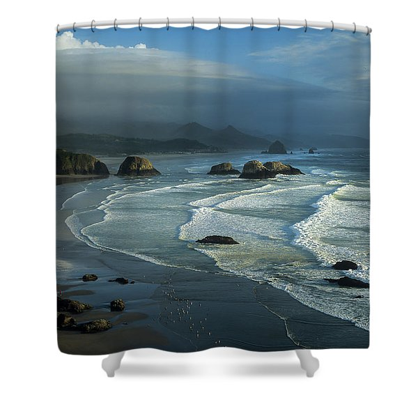 Crescent Beach And Surf Shower Curtain