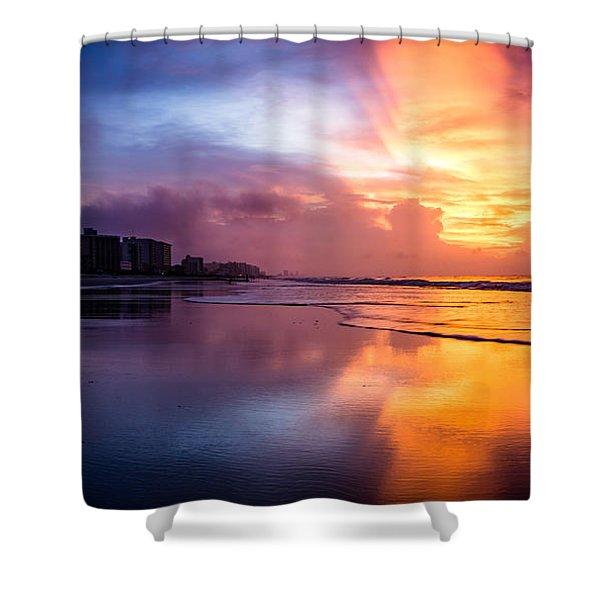Crescent Beach Sunrise Shower Curtain