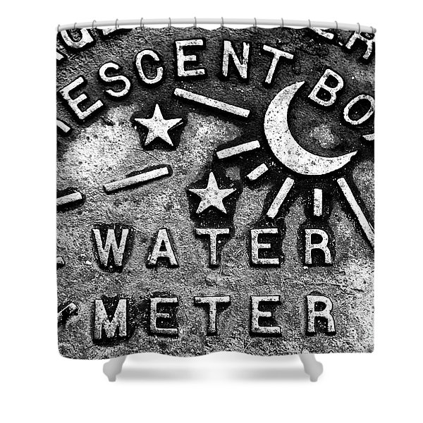 Crescent Box New Orleans Shower Curtain