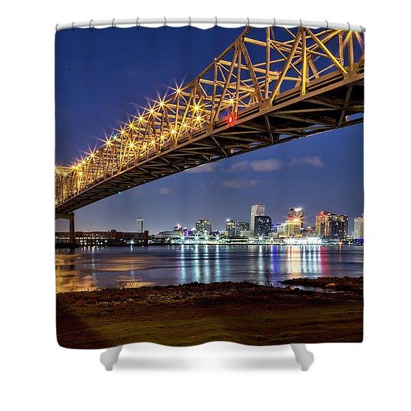 Crescent City Bridge, New Orleans Shower Curtain