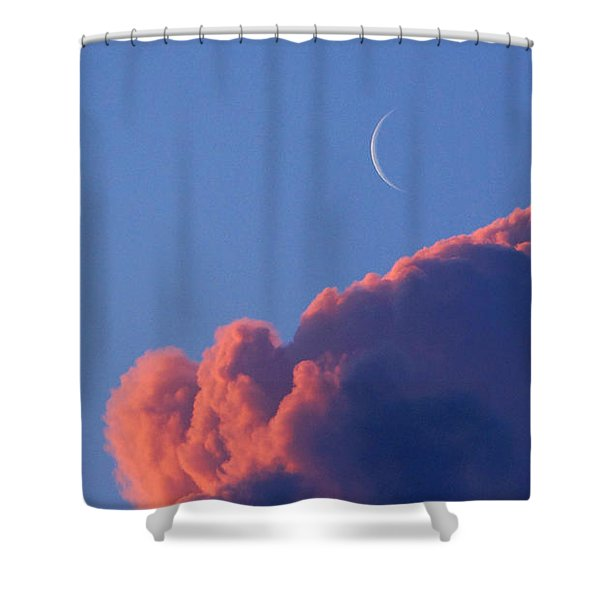 Crescent Moon In The Pink Shower Curtain