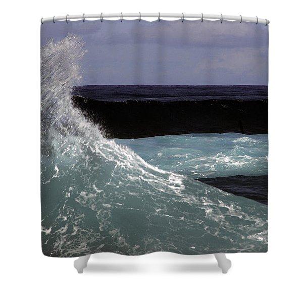 Crest, North Beach, Oahu Shower Curtain