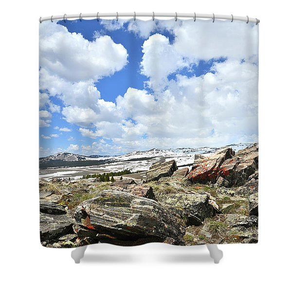 Crest Of Big Horn Pass In Wyoming Shower Curtain