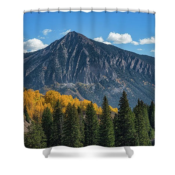 Crested Butte Mountain Shower Curtain