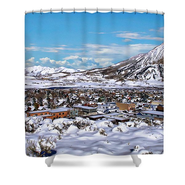 Crested Butte Panorama Shower Curtain
