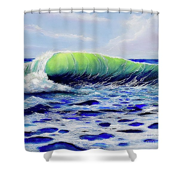 Shower Curtain featuring the painting Cresting Wave by Mary Scott