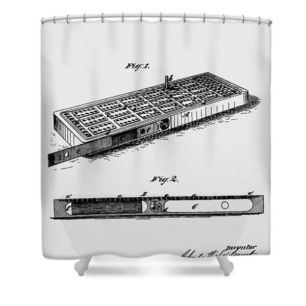 Cribbage Board 1879 Patent Art Transparent Shower Curtain