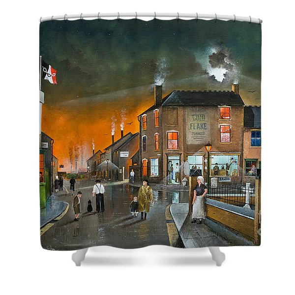 Shower Curtain featuring the painting Cribnight by Ken Wood