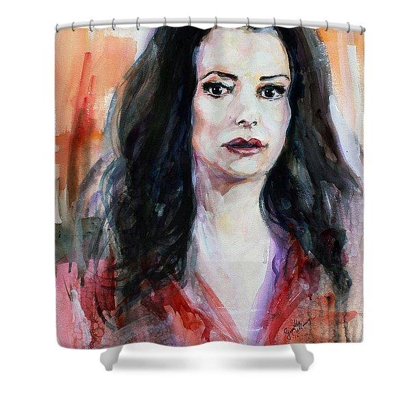 Criminal Minds Emily Prentiss Shower Curtain