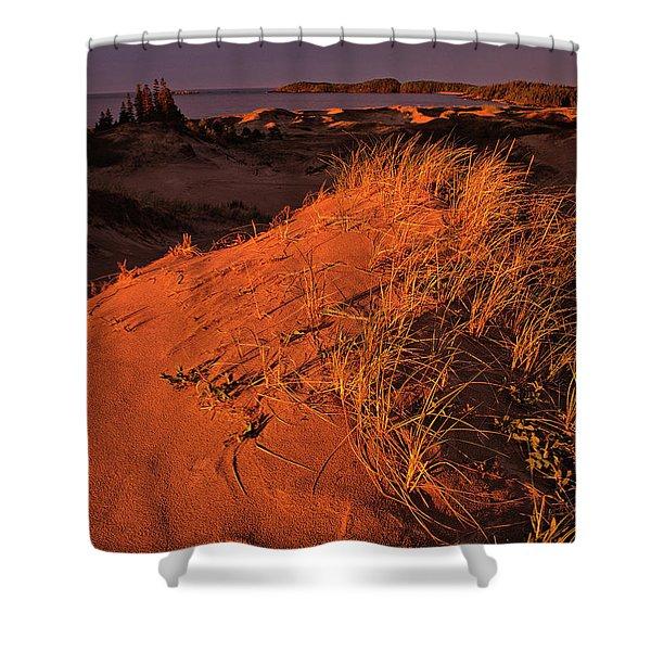 Crimson Dunes Shower Curtain
