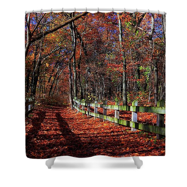 Crisp Air And A Burst Of Color Shower Curtain