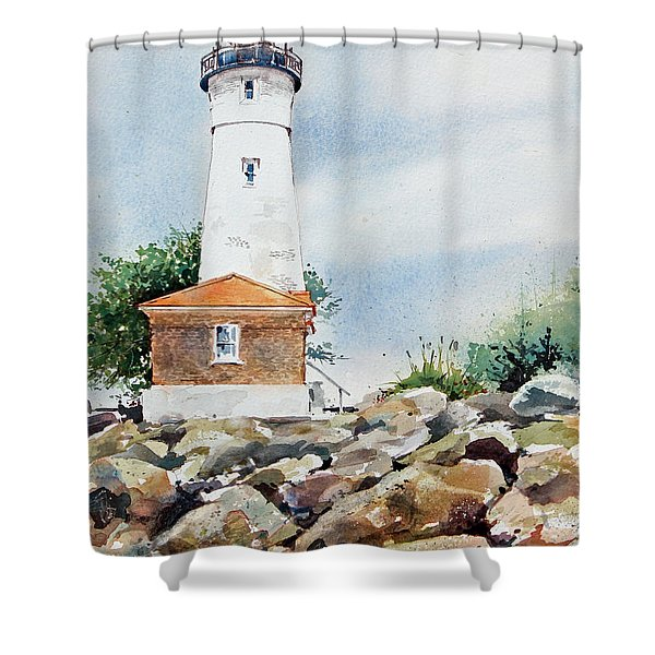 Crisp Lighthouse Shower Curtain